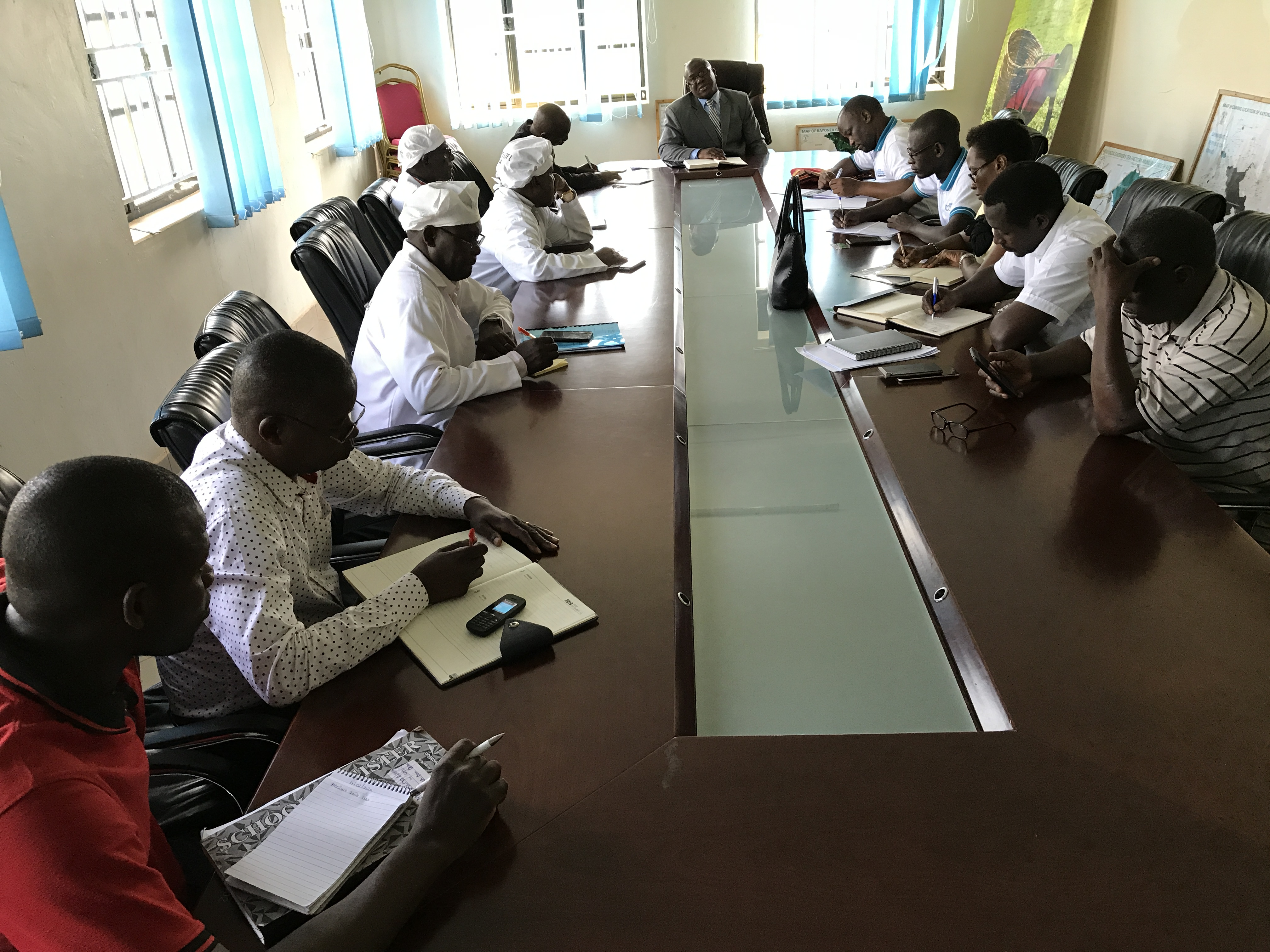 Meeting with Kayonza Management team